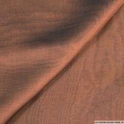 Mousseline de Soie changeant noir et marron