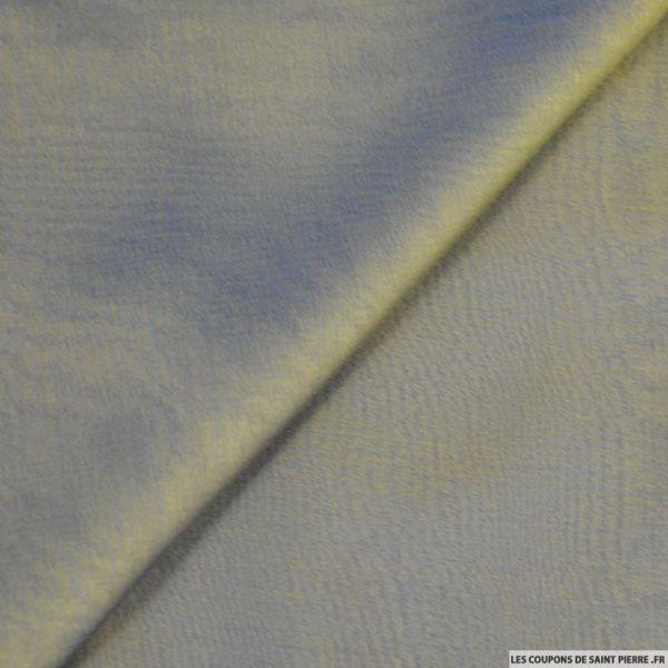 Mousseline de Soie changeant kaki et bleu