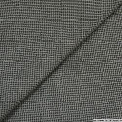 Coton tissé teint pied de puce marron et gris
