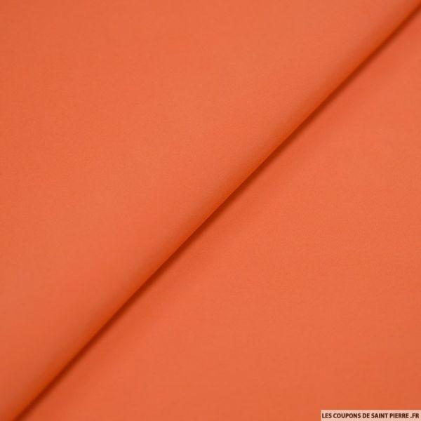 Crêpe polyester orange