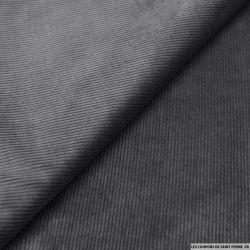 Velours grosses côtes gris