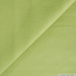 Velours côtelé vert prairie