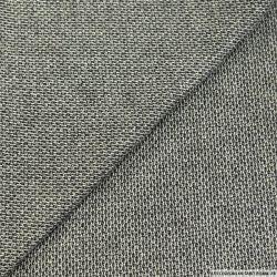 Tweed de laine mélangé noir et blanc