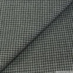 Piqué de laine carreaux anthracite