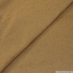 Flanelle de laine mélangée camel