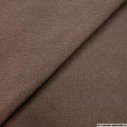 Flanelle de laine mélangée marron