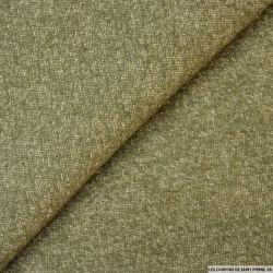 Jersey de laine mélangée vert mousse chiné