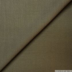 Piqué de laine polyester kaki