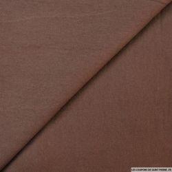 Gabardine de laine chocolat