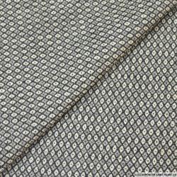 Jacquard graphique fils irisés gris