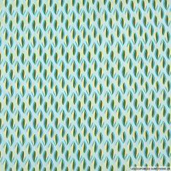 Microfibre imprimé feuille bicolore fond ciel