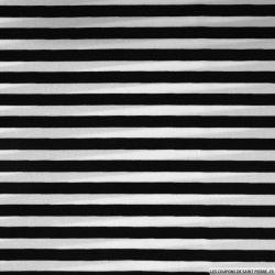 Microfibre imprimée rayures noires et blanches