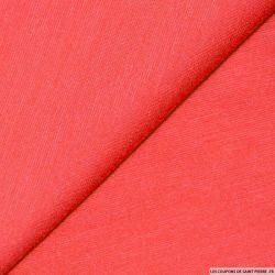 Tissus Maille Milano rose corail