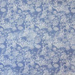 Chambray polycoton tie and dye jean's clair fleurs