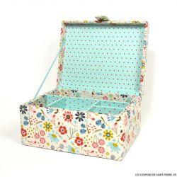 Boîte à couture champêtre DMC - 25 x 20 x 13 cm