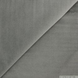 Velours grosses côtes gris souris