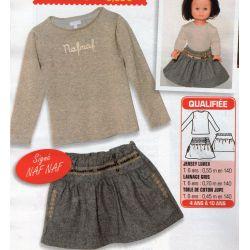 Patron pour jupe et pull (Patron enfant et poupee)