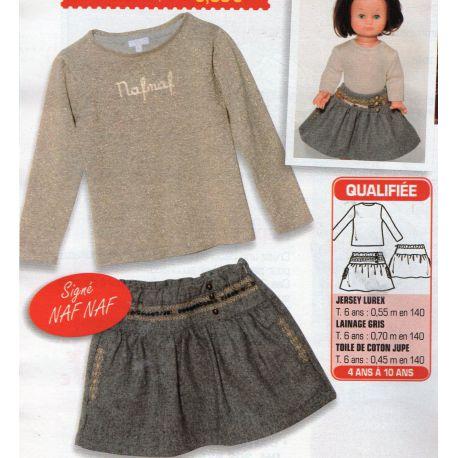 Patron pour jupe et pull (Patron enfant et poupée)