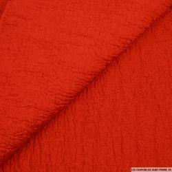 Toile contrecollée gaufrée rouge