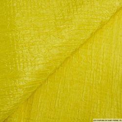 Toile contrecollée gaufrée mimosa