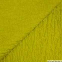 Toile contrecollée gaufrée vert anis