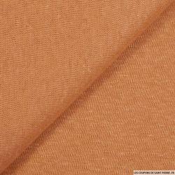 Maille 100% lin orange