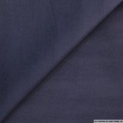 Velours côtelé bleu nuit