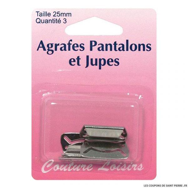 Agrafes 25 mm Pantalons -jupes - col. nickel