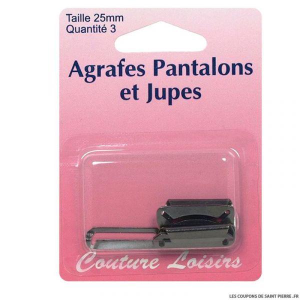 Agrafes 25 mm Pantalons -jupes - col.noir