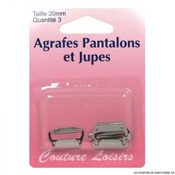 Agrafes 20 mm Pantalons -jupes - col. nickel