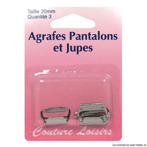 Agrafes 20 mm Pantalons -jupes - col. nickel