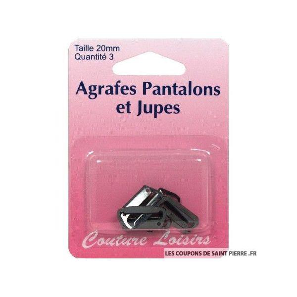 Agrafes 20 mm Pantalons -jupes - col. noir