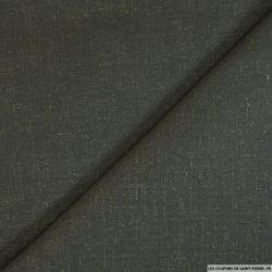Toile de laine kaki graphique