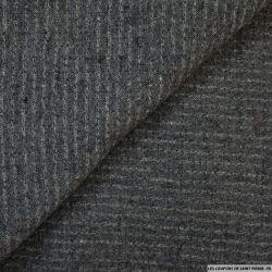 Toile polycoton fantaisie gris