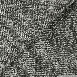 Tweed de laine noir et écru