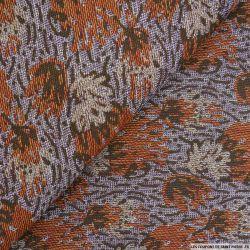 Jacquard automne camel et violet