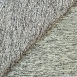 Maille polyester gris chiné