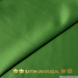 Satin mat touché soie vert sapin