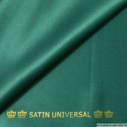 Satin mat touché soie vert canard