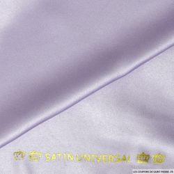 Satin mat touché soie lilas