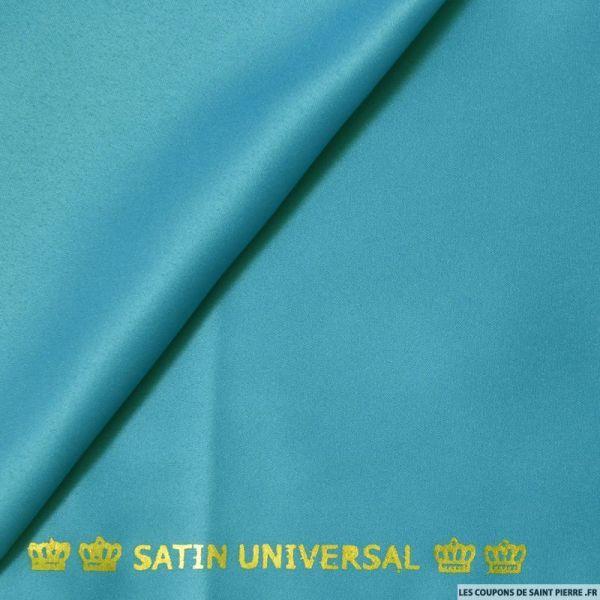 Satin mat touché soie turquoise