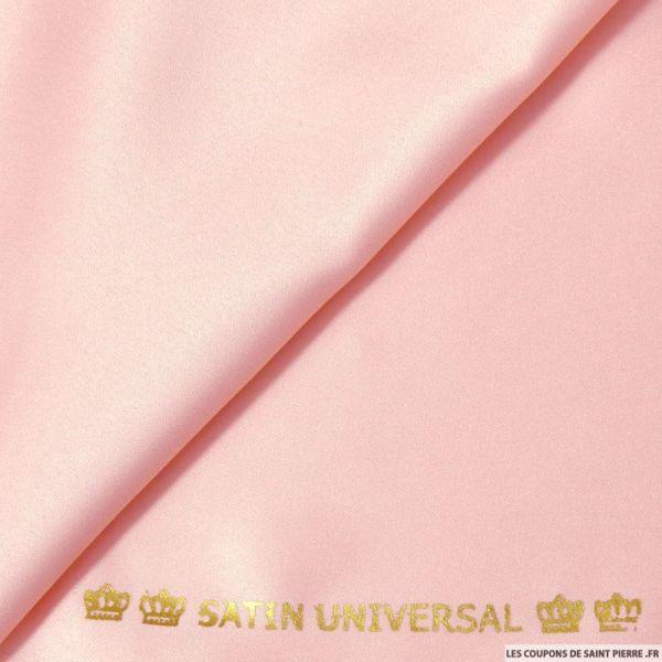 Satin mat touché soie rose dragée