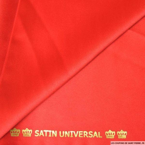 Tissu Satin mat touché soie rouge