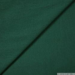 Voile de coton vert bouteille