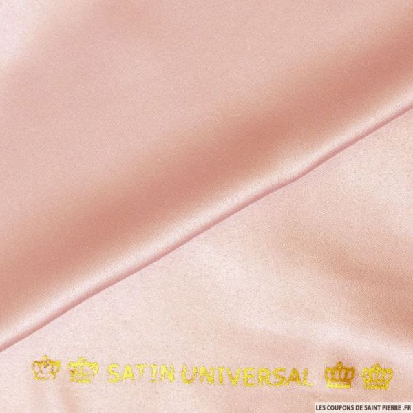 Tissu Satin mat touché soie vieux rose