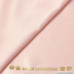 Tissu Satin mat touché soie rose dragée