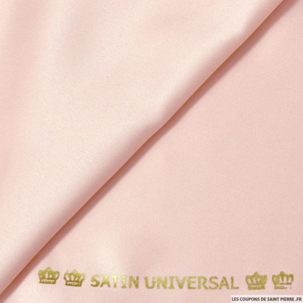 Tissu Satin mat touché soie rose