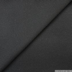 Lainage rayures diagonales fantaisie noir
