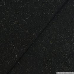 Mousseline de Soie crinkle noir pépite argent