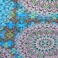 Maille maillot de bain imprimé kaléidoscope rose